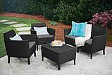 Комплект садових меблів Keter Salemo Lounge Set, фото 5