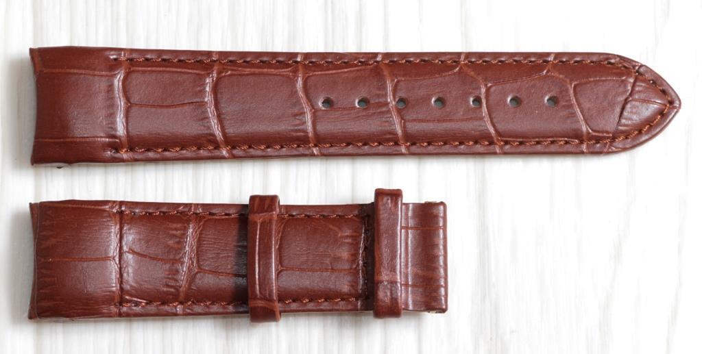 Ремешок для часов Tissot из натуральной кожи. Коричневого цвета 22 мм