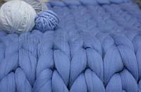 Плед из шерсти (цвет голубой)