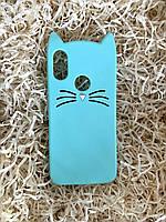 Силиконовый чехол Cat для Xiaomi Redmi 7 / Note 7, мятный