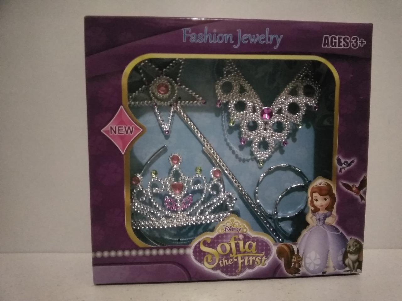 Игрушечный набор корона ожерелье для девочек. Игровой набор для девочек.