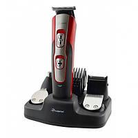 Профессиональная машинка для стрижки триммер для бороды, носа и ушей Geemy GM 592 10 в 1