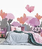 Дизайнерские фотообои в спальню, комнату для гостей Coral 150 см х 150 см