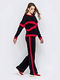 Повседневный брючный костюм кофта  и брюки прямого кроя с лампасами, фото 4