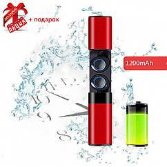 Беспроводные наушники блютуз гарнитура Bluetooth Wi-pods S2 Оригинал водонепроницаемые Красный