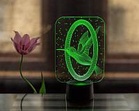 """Сменная пластина для 3D светильников """"Колибри"""" 3DTOYSLAMP"""