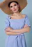 Платье летнее с открытыми плечами голубое Бланка, фото 5