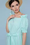 Платье летнее с открытыми плечами мятное Бланка, фото 4