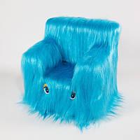 Детский Стульчик Пушистик 43см голубой (6262)
