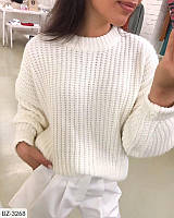 Свободный вязаный свитер в разных цветах, свитер оверсайз. Размер 42-46 универсал