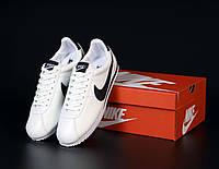Белые кожаные кроссовки Nike Cortez Leather, фото 1