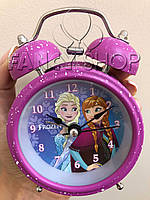 """Будильник кварцовий """"Холодне серце. Анна і Ельза"""", фіолетовий, малий, Будильник """"Холодное сердце"""""""