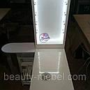 Угловой маникюрный стол с УФ лампой и подсветкой., фото 5