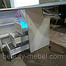 Угловой маникюрный стол с УФ лампой и подсветкой., фото 6