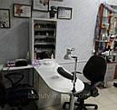 Угловой маникюрный стол с УФ лампой и подсветкой., фото 7