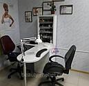 Угловой маникюрный стол с УФ лампой и подсветкой., фото 8