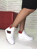 Ботинки кожаные демисезон белые