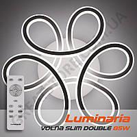Потолочный светодиодный светильник LUMINARIA VOLNA SLIM DOUBLE 85W 3R-500/150-WHITE/OPAL-220-IP20 с пультом ДУ