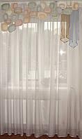 Жесткий ламбрекен Пазлы Овалы 1,5м радужные