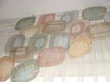 Жесткий ламбрекен Пазлы Овалы 1,5м радужные, фото 3