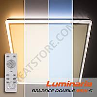 Потолочный светодиодный светильник LUMINARIA BALANCE DOUBLE 95W S-500-WHITE/SILVER-220-IP44 с пультом ДУ