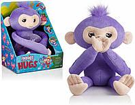 Интерактивная мягкая Обезьянка-обнимашка Кики Оригинал WowWee Fingerlings HUGS Kiki Monkey Pet