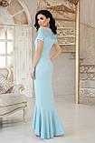 Платье вечернее длинное голубое Наоми, фото 3