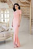 Платье вечернее длинное персиковое Наоми, фото 2