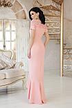 Платье вечернее длинное персиковое Наоми, фото 3
