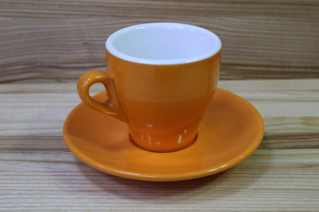 Итальянская чашка кофейная  с блюдцем