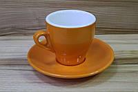 Итальянская чашка кофейная  с блюдцем, фото 1