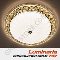 Потолочный светодиодный светильник LUMINARIA CASABLANCA GOLD 72W R 515 ON/OFF WHITE 220 IP20