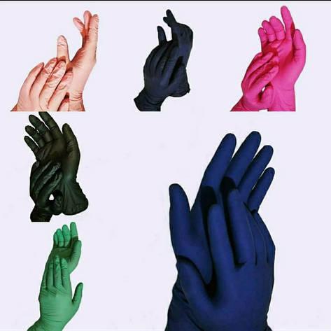 Перчатки нитриловые  неопудренные  хл  черные Medicom, фото 2