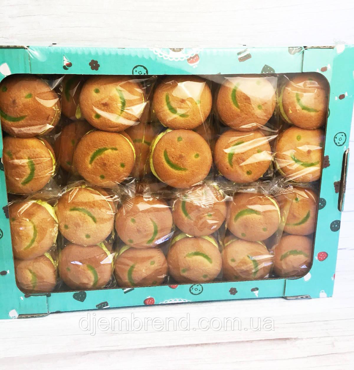 Печенье Хаха-тун (смайлик) со вкусом мохито, 1,7 кг (2 шт в упаковке)