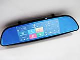 "D35 / K35 Дзеркало реєстратор, 7"" сенсор, 2 камери, GPS навігатор, WiFi, 8Gb, Android, 3G, фото 10"