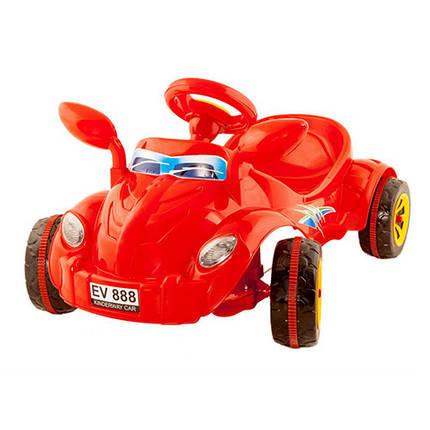 Машинка педальная Молния Киндервей 09-903 красная со звуком, фото 2