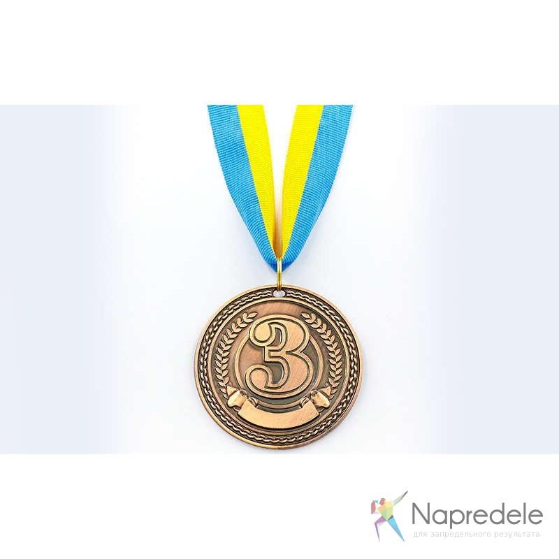 Медаль спорт d-6,5см С-6400-3 бронза CELEBRITY (40g, на ленте)
