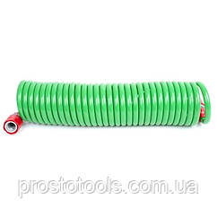Шланг для полива спиральный 7,5 м с конекторами INTERTOOL GE-4001