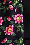 Платье облегающее черное с цветами Андора, фото 6