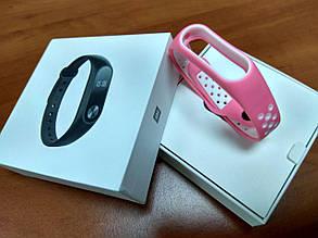 Оригинальный ремешок для Xiaomi Mi band 2 black/white Nike, фото 2