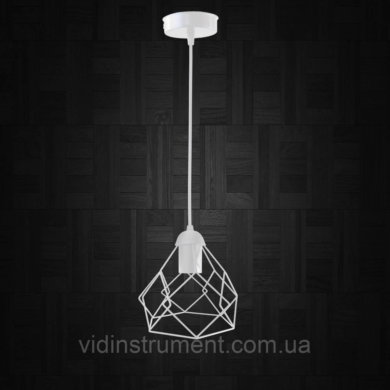 """Подвесной металлический светильник, современный стиль """"RUBY-W"""" Е27  белый цвет"""