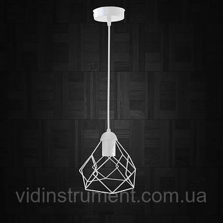 """Подвесной металлический светильник, современный стиль """"RUBY-W"""" Е27  белый цвет, фото 2"""