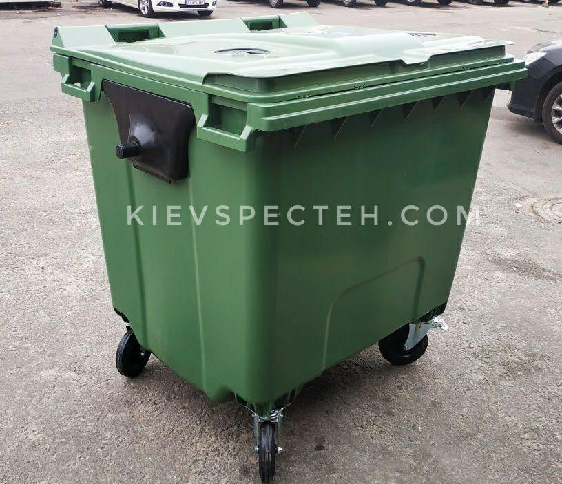 Евроконтейнер пластиковый 1100 л.,для стекла, раздельный сбор мусора.