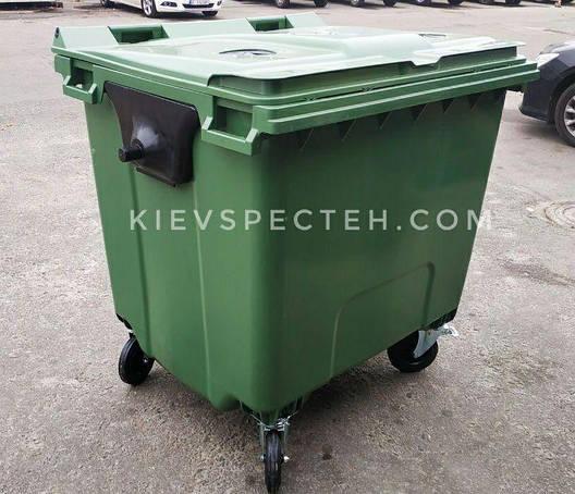 Евроконтейнер пластиковый 1100 л.,для стекла, раздельный сбор мусора., фото 2