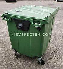 Евроконтейнер пластиковый 1100 л.,для стекла, раздельный сбор мусора., фото 3