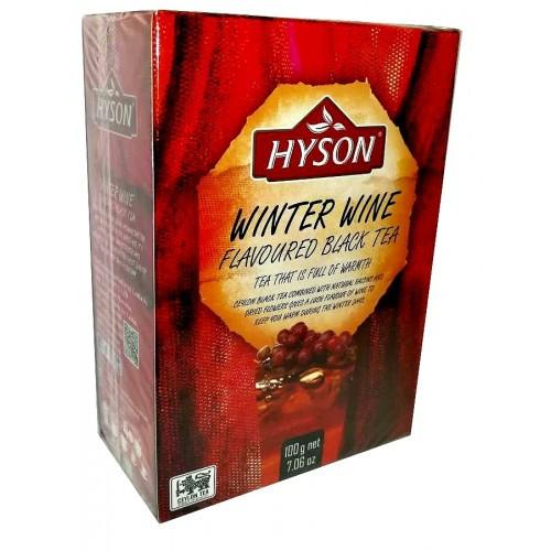 Чай Хайсон Зимовий вино з саусепом і винним ароматом чорний листовий 100 г