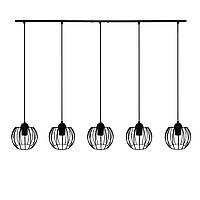 """Подвесной металлический светильник, современный стиль """"BARREL-5"""" Е27  черный цвет"""