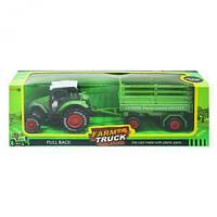 """Трактор """"Farm Truck"""" с прицепом (зеленый) sv-177"""