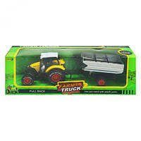 """Трактор """"Farm Truck"""" с накопительным прицепом (желтый) sv-177"""