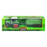 """Трактор """"Farm Truck"""" с прицепом (зеленый) sv-174"""